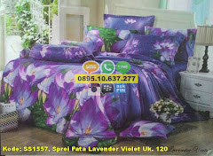 Harga Sprei Fata Lavender Violet Uk. 120 Jual