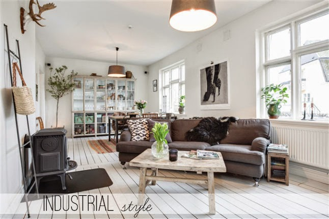 Stile industriale in una casa nordica home shabby home arredamento interior craft - Casa stile industriale ...