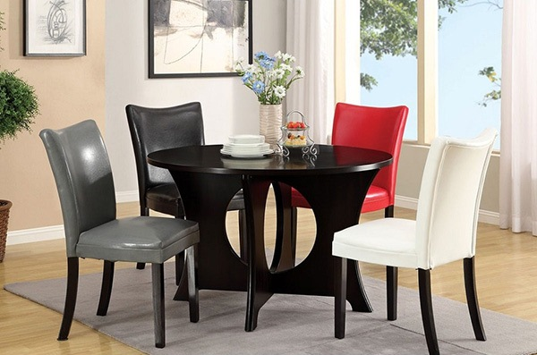 Multi Colored Dining Set with Chairs