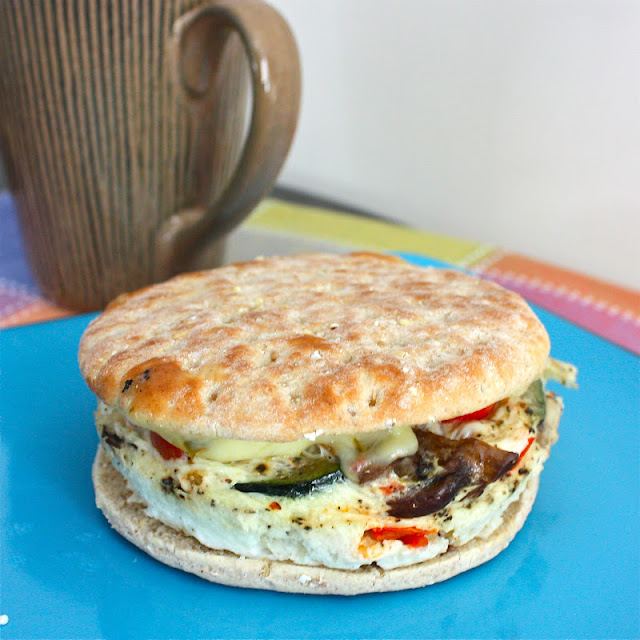 ... Sandwich- Egg White and Veggie Flatbread - Get Off Your Tush and Cook