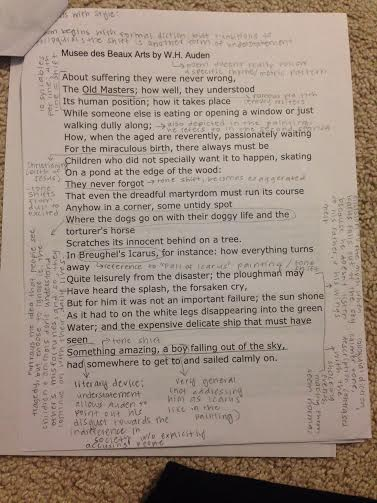 musee des beaux arts poem summary