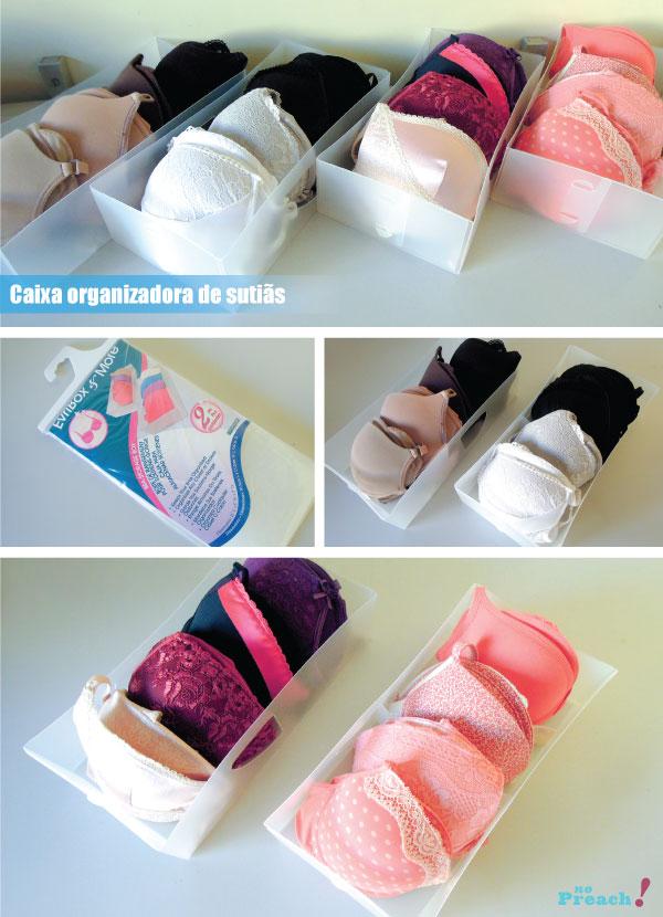 caixas organizadoras para sutiãs - roupas íntimas