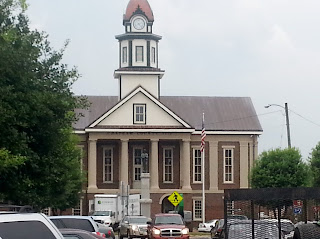 historic Pittsboro courthouse