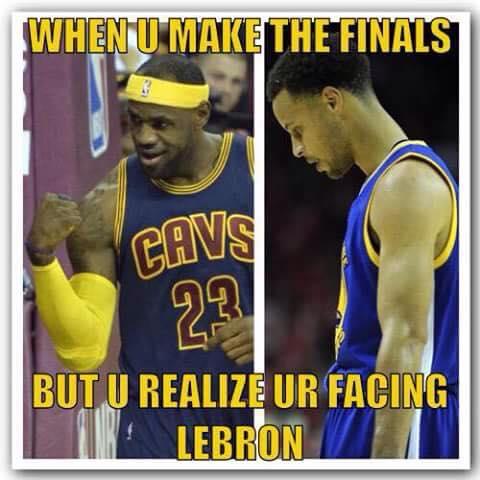 when u make the finals but u realize ur facing lebron