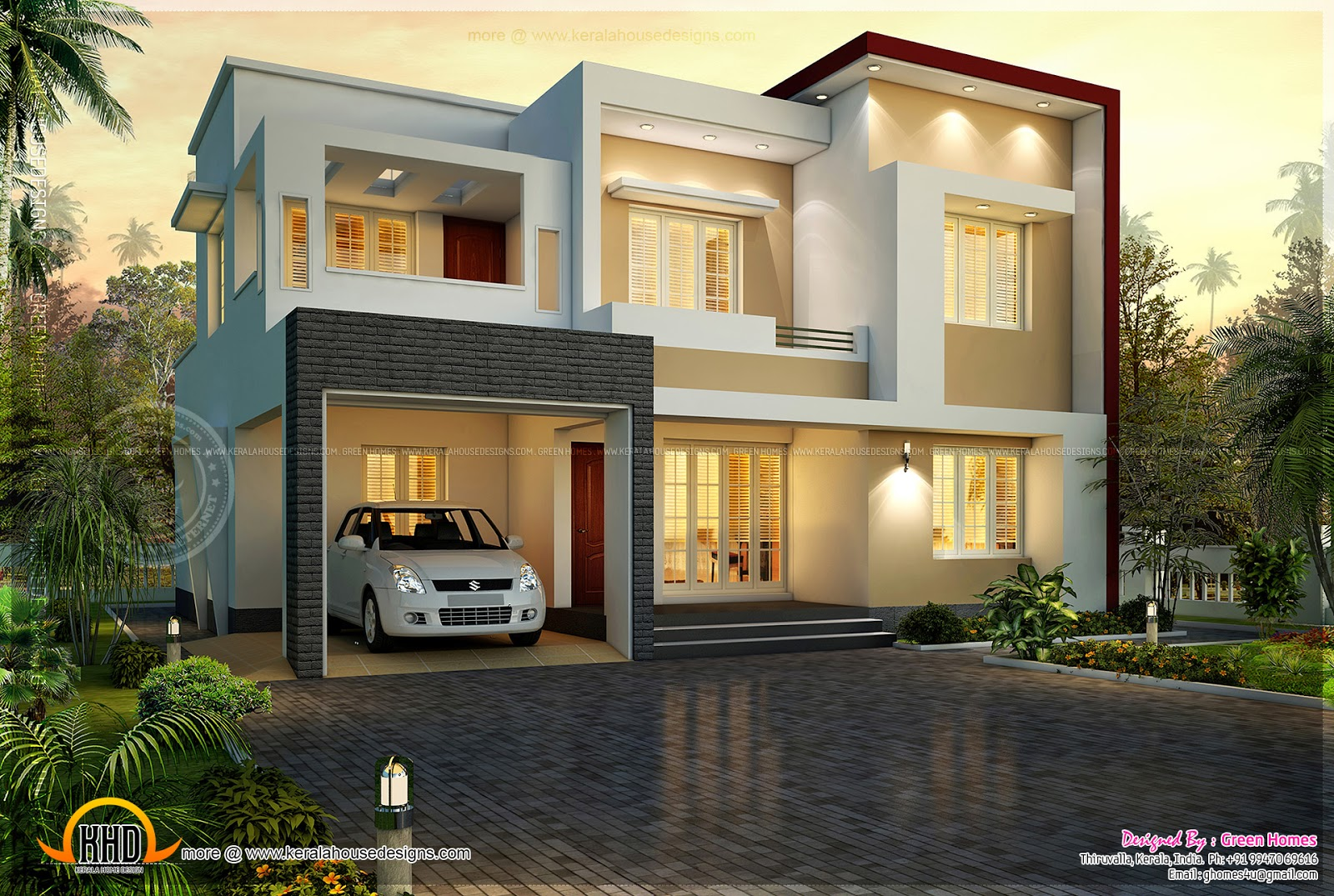 December 2013 kerala home design and floor plans for Square house design