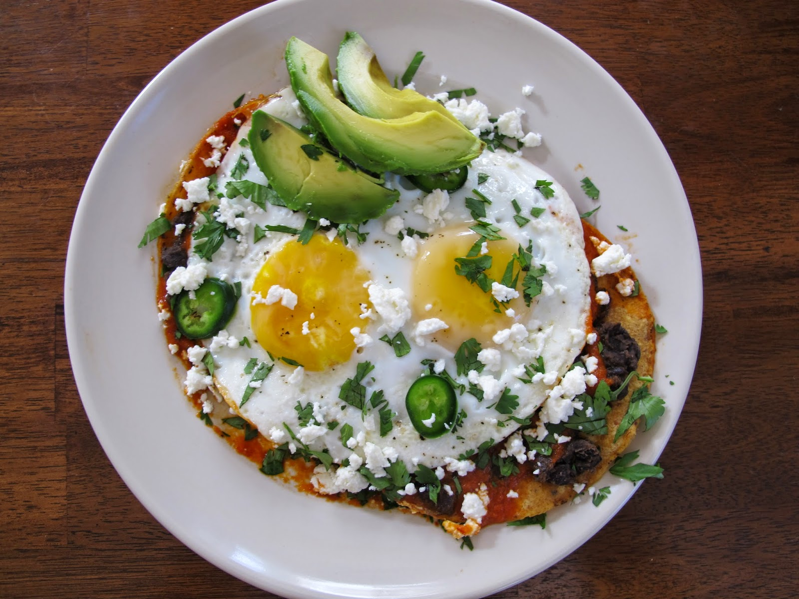 Huevos Rancheros Tostadas with Black Beans