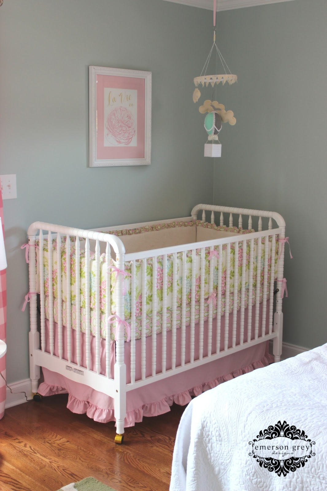 Bonjour Pale Blue And Pink Nursery