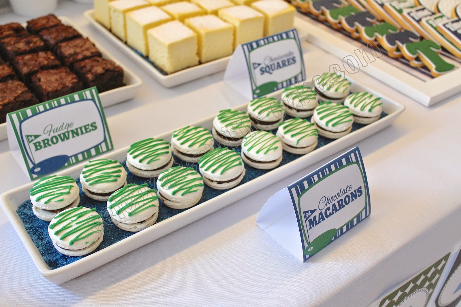 Celebrate with Cake!: Golf Themed Dessert Table (click ...