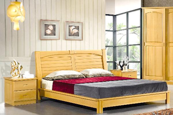 Giường đôi gỗ tự nhiên GDO1615 1.6 x 2m
