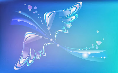 Blue butterfly 3d free desktop wallpapers