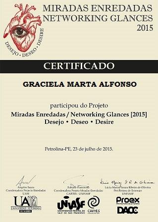 """""""Certificado de Participación Proyecto Miradas Enredadas"""""""