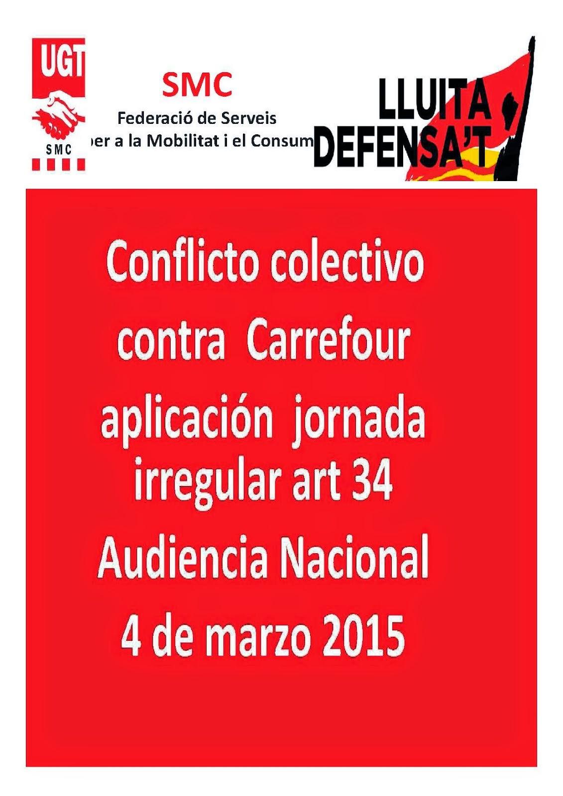 conflicto colectivo  art. 34 en Carrefour