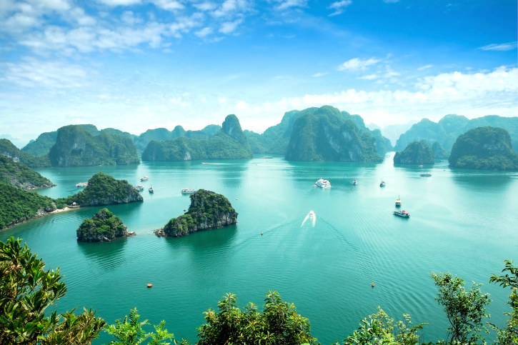 In a sentence, Vietnam is just stunning. That's Ha Long Bay above, a 600-mile turquoise bay filled with huge limestone islands, and there are many more just-as-beautiful views around the country.