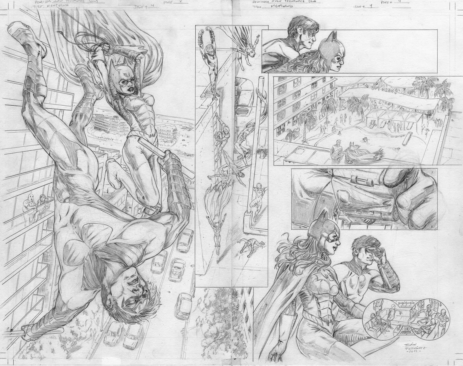 Ivan Fernandez - Art: Nightwing # 4 actualizado.