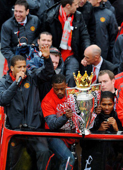 Bebe Evra Manchester United Champions Barclays Premier League Parade