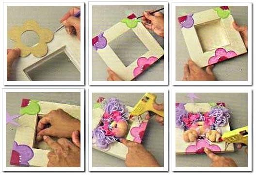 Manualidades para compartir cuadro infantil decorado con hada de tela - Como hacer manualidades con tela ...