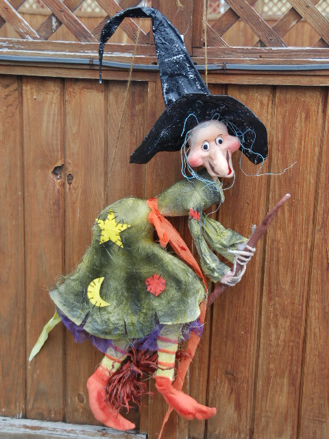 Shelley b decor and more large witch on broom wall hanging for 3 witches halloween decoration