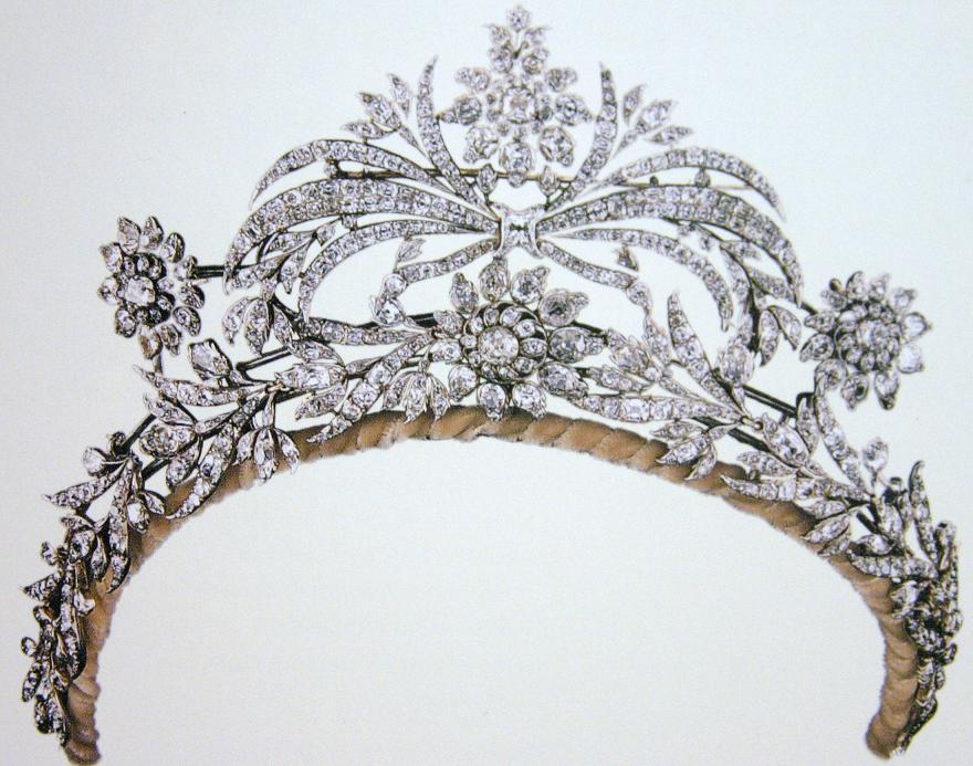 تيجان ملكية  امبراطورية فاخرة Tiara+crown+diadem+floral+flower+petal+diamond