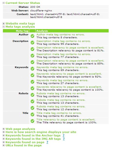 Tool kiểm tra meta tags chất lượng giúp tối ưu hóa SEO blogspot