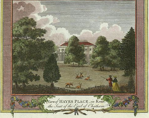 Figure 2: View of Hayes Place in Kent, the seat of the Earl of Chatham (1784)