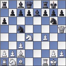 Partida de ajedrez Viladerbó-Rey Ardid después de 12.f4!, Barcelona 1926