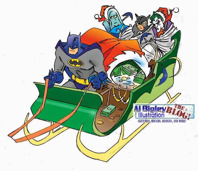 Al Bigley Illustration-The Blog!: DC Comics Christmas Ornament ...