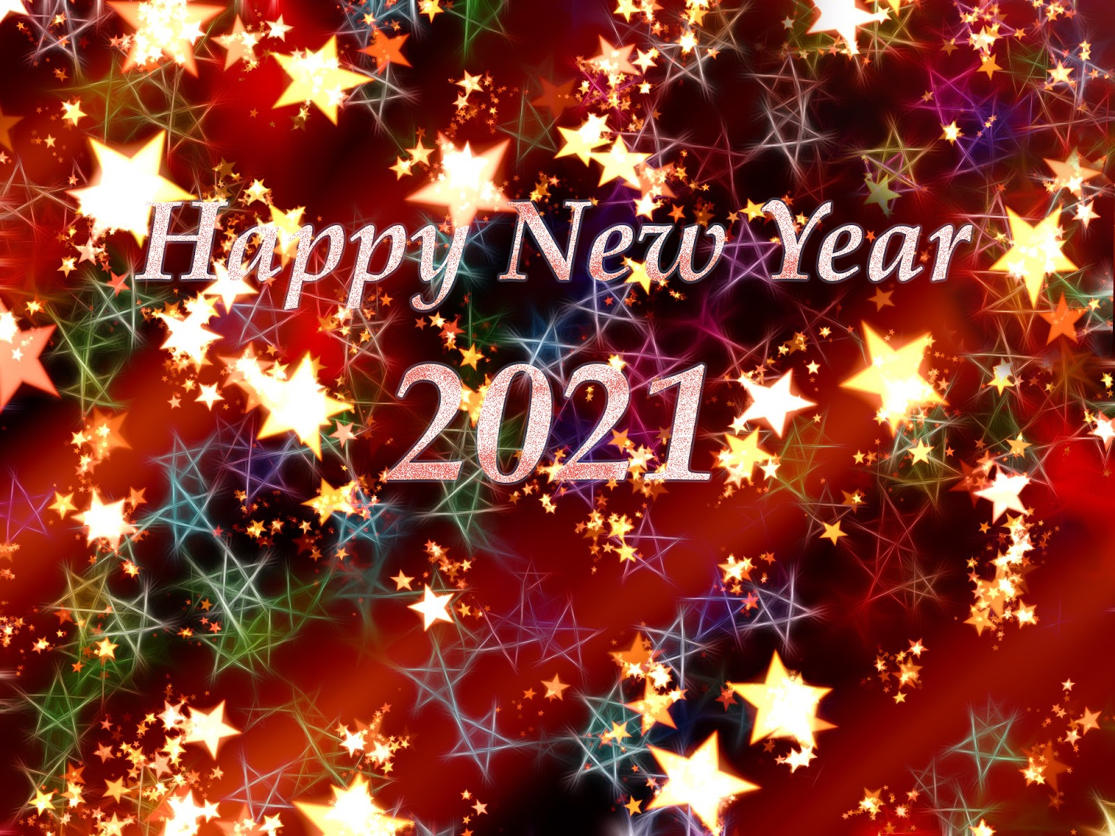 light boxes made with stars happy new year 2021 wallpapers