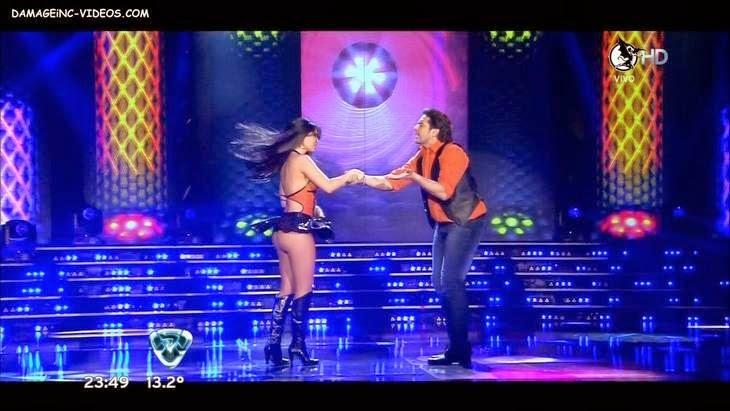 Latina Celebrity Sabrina Ravelli hot ass upskirt on tv show video