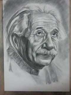 Albert Einstein. Autor: José M. Gallego. Todos los derechos reservados.