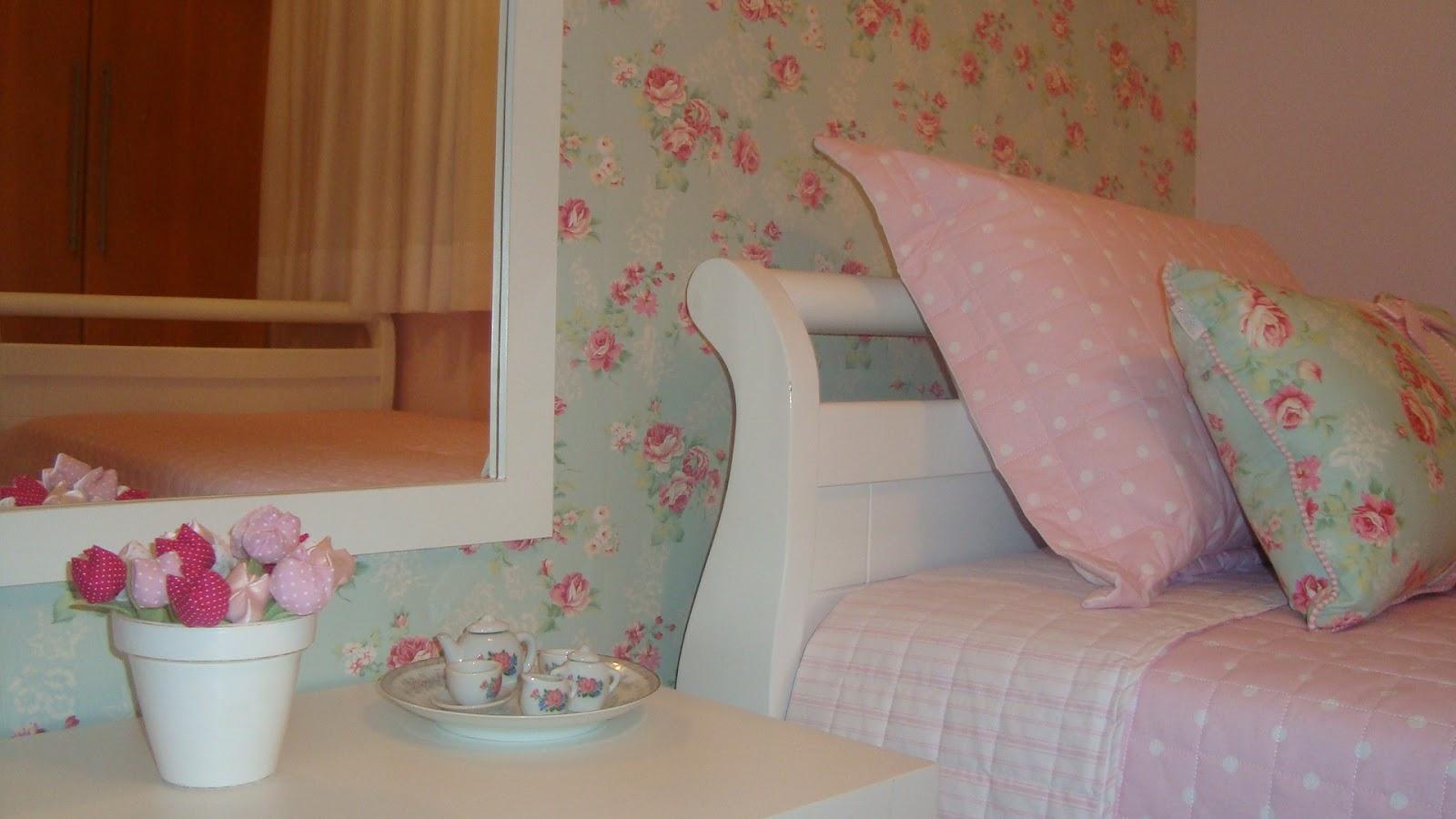 Meninas do Pano Tecido floral aplicado parede Quarto da