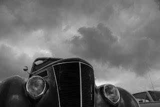 Hot rod car show Newquay Cornwall