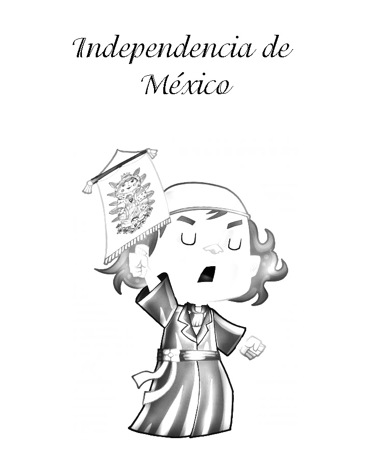 Miguel Hidalgo, Independencia de México para colorear