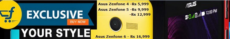 Exclusive Asus Zenfone 4, 5 & 6 Starts from Rs. 5,999