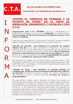 """CONTRA EL """"DERECHO DE PERNADA Y LA PATENTE DE CORSO"""" EN LA JUNTA DE ANDALUCÍA"""