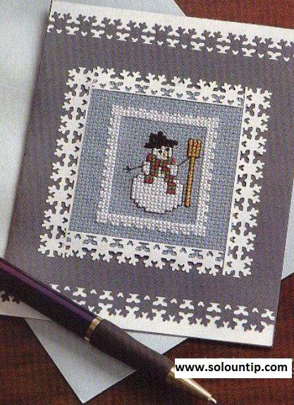Tarjetas navide as en punto de cruz - Tarjetas con motivos navidenos ...