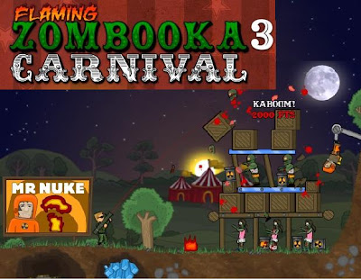 Flaming Zombooka 3 Carnival walkthrough.