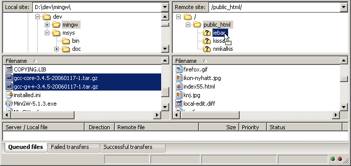 moveing filezilla file image