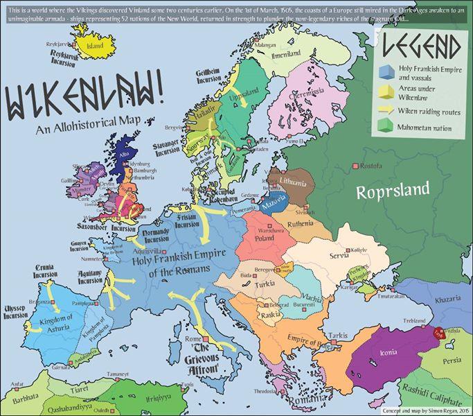 Alternate History Weekly Update: Map Monday: Wikenlaw! by SRegan