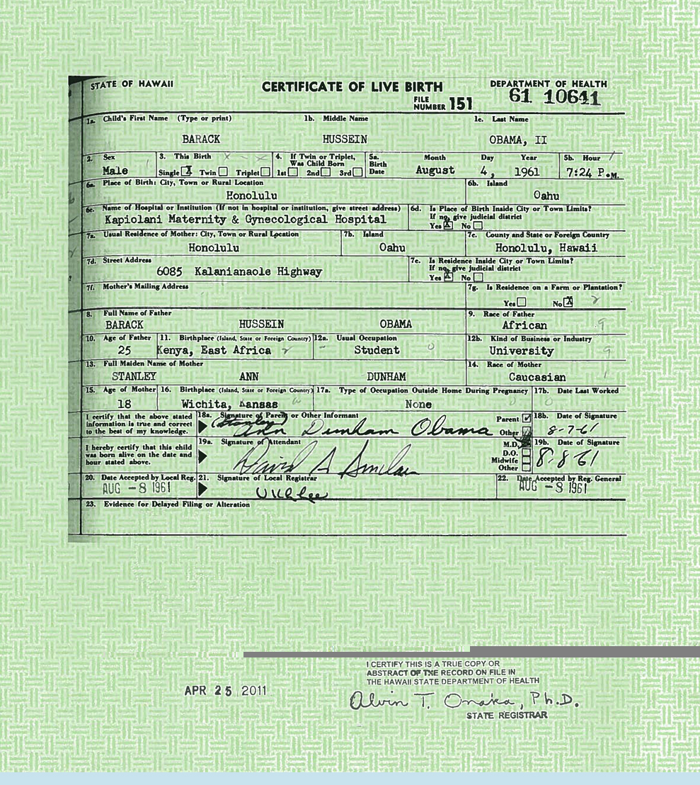 Wind From Nowhere Obamas Forged Birth Certificate