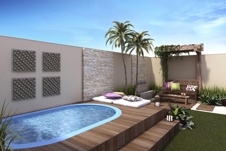 Coisas da k tia quintal decorados for Modelos de patios de casas pequenas
