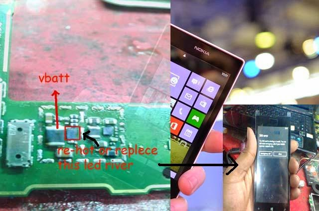 Nokia Lumia Lcd Light Problem Solution With Diagram