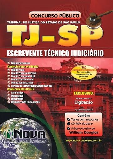 Apostila Impressa TJ SP - Tribunal de Justiça de São Paulo para Escrevente Técnico Judiciário