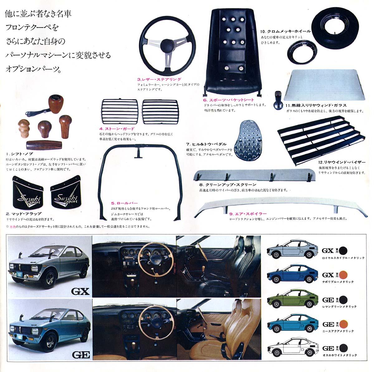 suzuki fronte coupe, klasyk, samochody z lat 70, japońskie małe auta, fajne samochody