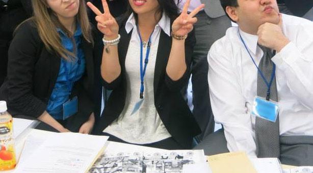 coworkers in japan