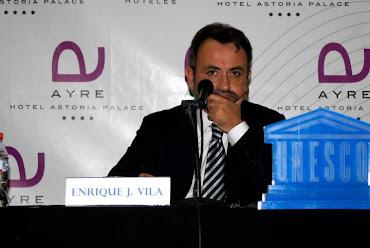 """CONFERENCIA DE ENRIQUE J. VILA, """"¿Dónde están mis hijos?"""", patrocinado por la UNESCO"""