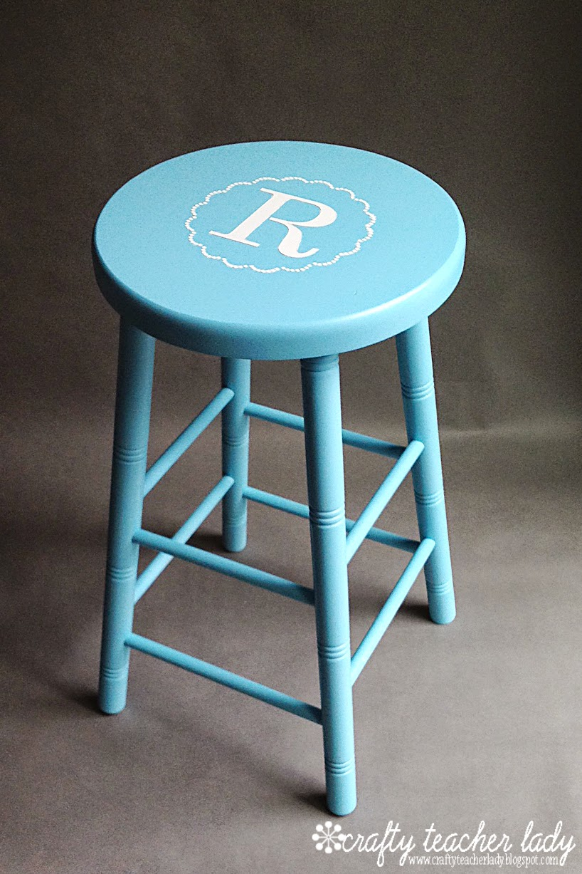 Crafty Teacher Lady 3 Personalized Classroom Stool Makeover