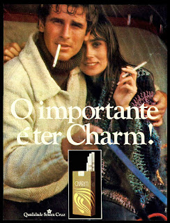propaganda Cigarros Charm - 1978. propaganda anos 70; história decada de 70; reclame anos 70; propaganda cigarros anos 70; Souza Cruz anos 70; Brazil in the 70s; Oswaldo Hernandez;