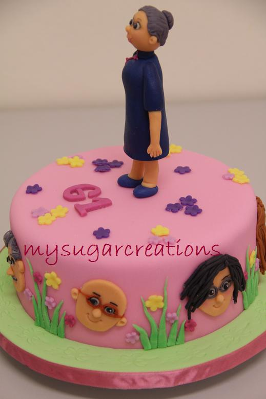My Sugar Creations 001943746M Over The Hill Birthday Cake
