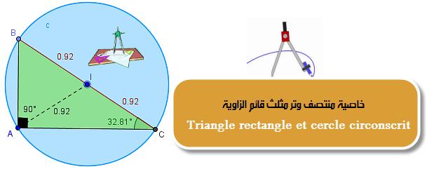 خاصية منتصف وتر مثلث قائم الزاوية