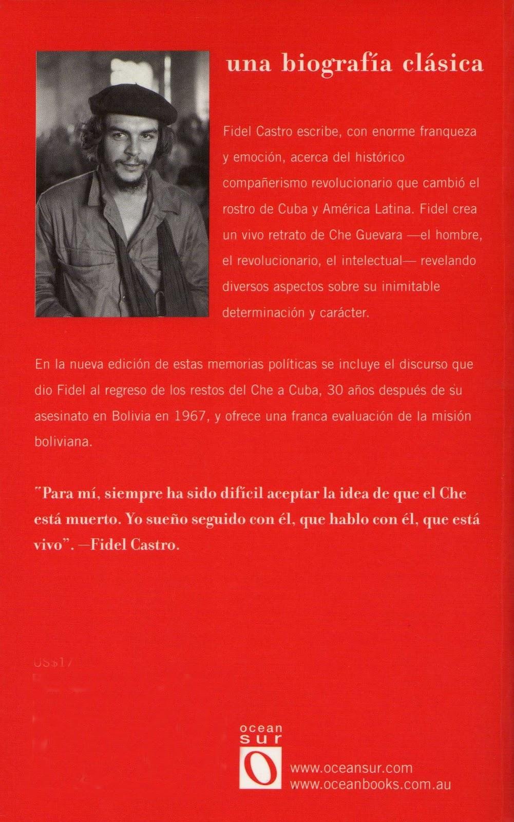 Che en la memoria de Fidel Castro Contratapa+che